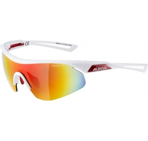 ALPINA OKULARY NYLOS SHIELD - white/red