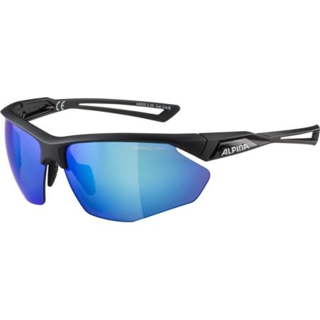 ALPINA OKULARY NYLOS HR - black matt - szkło blue