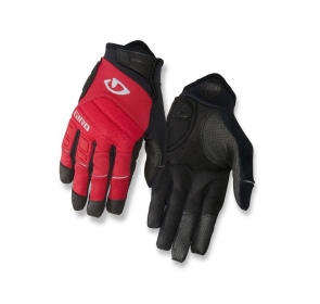 Rękawiczki męskie GIRO XEN długi palec dark red bl