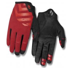 Rękawiczki męskie GIRO DND długi palec dark red bi