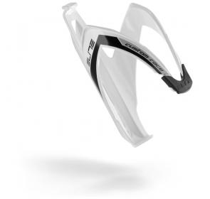 Koszyk na bidon ELITE Custom Race - biało/czarny