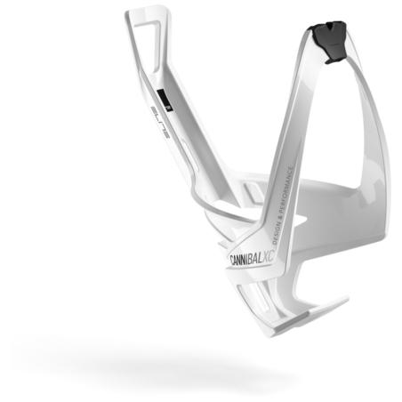 Koszyk na bidon ELITE Cannibal XC - biało/czarny