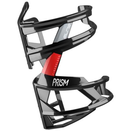 Koszyk na bidon ELITE Prism - czarno/czerw - prawy