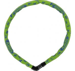 Łańcuch ABUS Steel-O-Chain 4804C - lime symbols