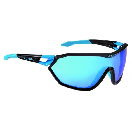 ALPINA OKULARY S-WAY VLM+ - black matt/cyan - 1