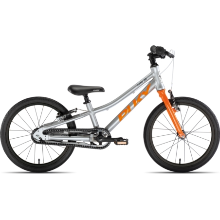 Rower dziecięcy PUKY S-Pro 18-1 - srebrno/pomarańc